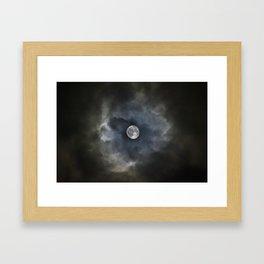 Engulfed Moon Framed Art Print