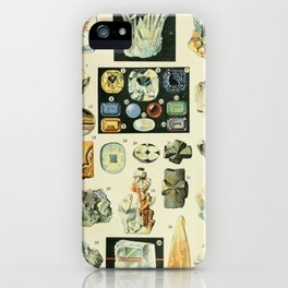 Vintage Minerals Chart iPhone Case
