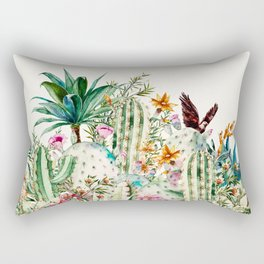Blooming in the cactus Rectangular Pillow