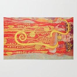 Gustav Klimt - Greek Goddess of Medicine Hygeia Rug