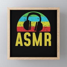 ASMR Headphones Framed Mini Art Print