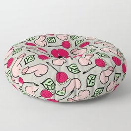 Peckers & Poppies  Floor Pillow