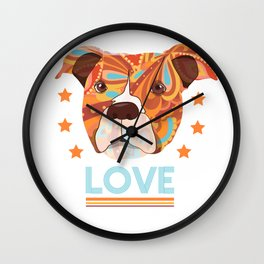 Love Dog Wall Clock