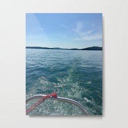 Boat Trails Metal Print