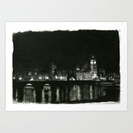 The Thames at Night Art Print