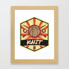 Knitting Propaganda | Knit Wool Hobby Framed Art Print