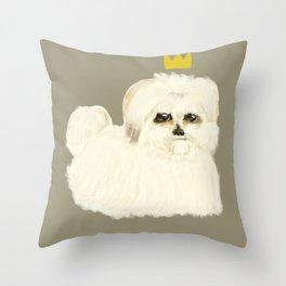 Coton de Tulear Royalty Throw Pillow