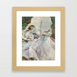 "John Singer Sargent ""The Lady with the Umbrella"" Framed Art Print"