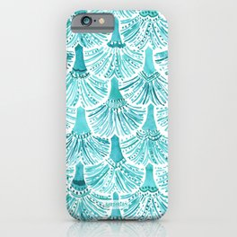 MERMAID TAILS Nautical Scallop Pattern iPhone Case