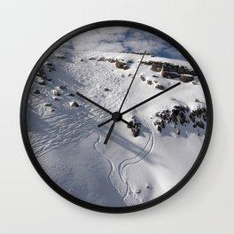 Ski Slopes Wall Clock
