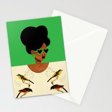 Green Postcard Fashion Stationery Cards