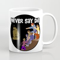 the goonies Mugs featuring Goonies Never Say Die by Darth Paul