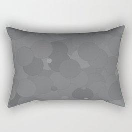 Glacier Gray Bubble Dot Color Accent Rectangular Pillow