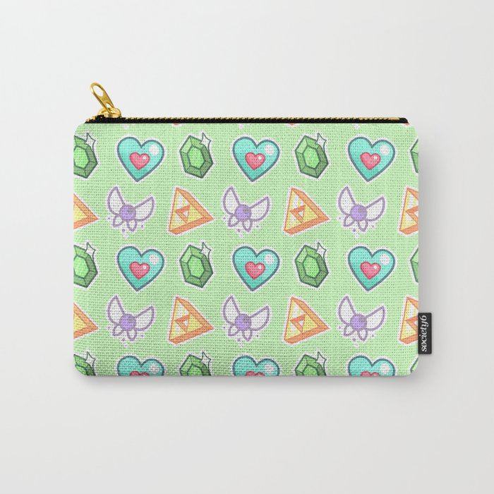 Legend of Zelda Pattern Carry-All Pouch
