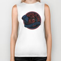 river song Biker Tanks featuring Where In Time Is River Song by Kswaiy