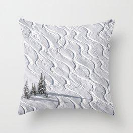 Powder tracks Throw Pillow