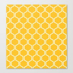 BEAUTY OF NATURE (bee , bees , yellow) Canvas Print