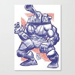 365 Space Wrestlers: Blitzkrieg Bopper Canvas Print