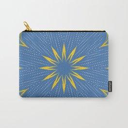 Yellow Sunbeam Mandala Carry-All Pouch