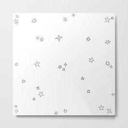 Star Scatter Metal Print