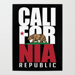 California Republic Flag, High Quality Image Poster