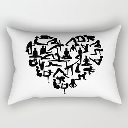 yoga heart Rectangular Pillow