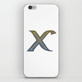 Celtic Knotwork Alphabet - Letter X iPhone Skin