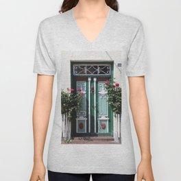 Beautiful Old Fraislaand Door Unisex V-Neck