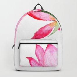 pink lotus flower Backpack