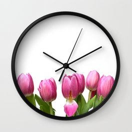 Tulips in Space.... Wall Clock