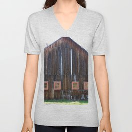 Rustic Old Country Barn Unisex V-Neck