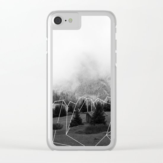 Crystal Hut I Clear iPhone Case
