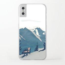 Mountain Sunrise (Pause II) Clear iPhone Case
