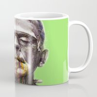 frankenstein Mugs featuring Frankenstein by beart24