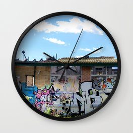 Abandoned Old Folks Home Wall Clock