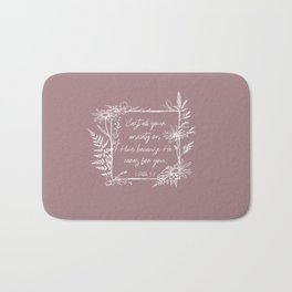 Cast Your Anxiety Wildflower Frame Bible Verse Bath Mat
