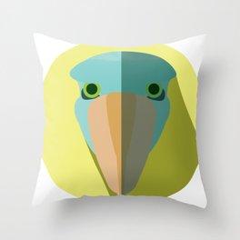 Shoebill Stork Icon Throw Pillow