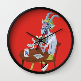 Krampus or Hipster? Wall Clock