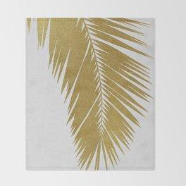 Palm Leaf Gold I Throw Blanket