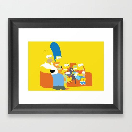 The Simpsons - Family Framed Art Print