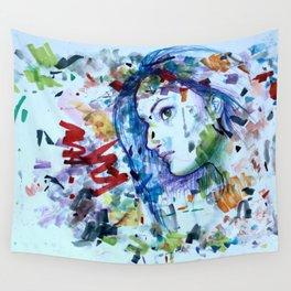 Scribble Girl, Scribble Wall Tapestry