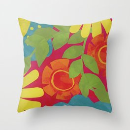 Bold and Bright 3 Throw Pillow