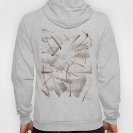180630 Grey Black Neutral Brown Abstract Watercolour 5| Watercolor Brush Strokes Hoody