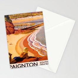 retro iconic Paignton poster Stationery Cards
