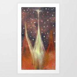 From dreams and wishes. Everything must be equal in your eyes. Art Print