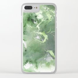 Tectonic Plates Clear iPhone Case