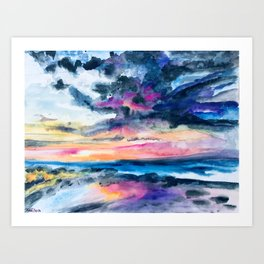 Breakwall Art Print