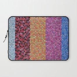 Textile Stripes and Dots Design - Landscape Orientation Laptop Sleeve