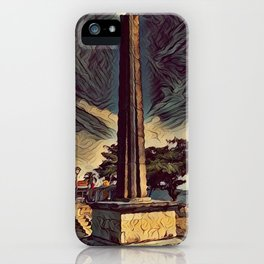 obelisk painting iPhone Case