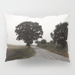 misty road in derbyshire Pillow Sham